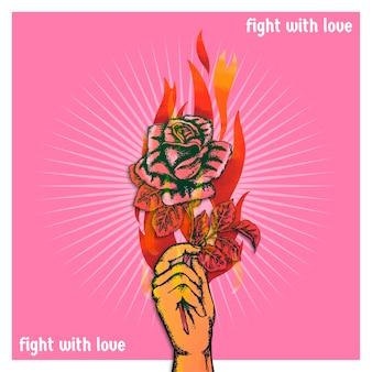 Kämpfe mit liebe