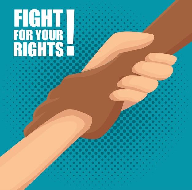 Kämpfe um deine rechtekarte