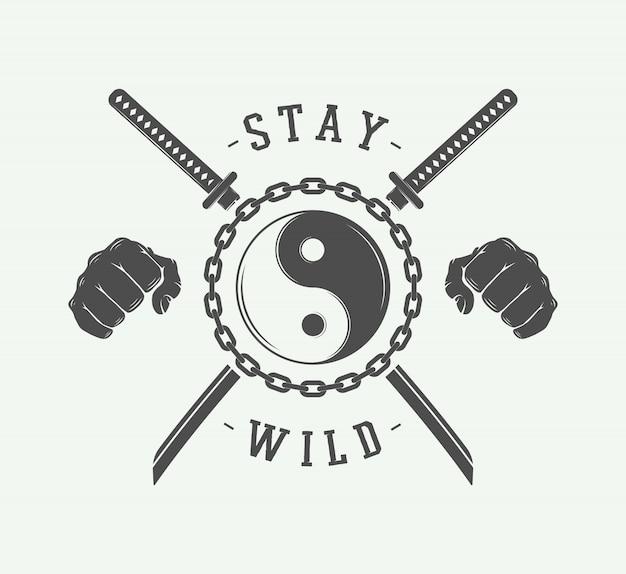 Kämpfendes emblem, abzeichen