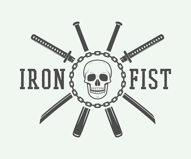 Kämpfendes logo, emblem, abzeichen