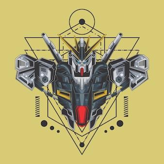 Kämpfer-roboter heilige geometrie