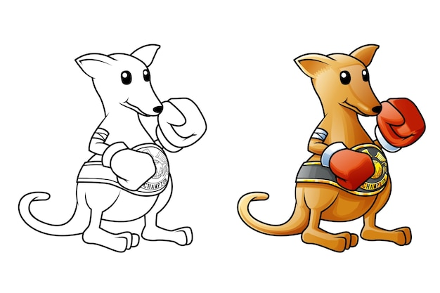Känguru-cartoon malvorlagen
