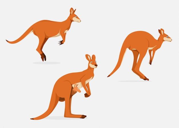 Känguru-frau mit joey im beutel