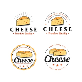 Käse abzeichen einfache logo-design-inspiration