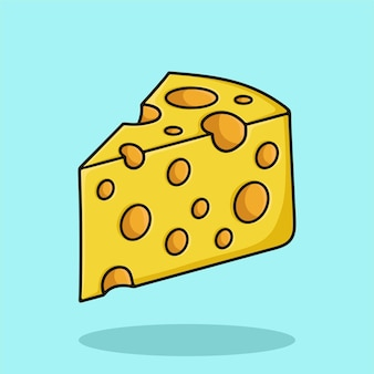 Käse-cartoon-symbol abbildung vektor
