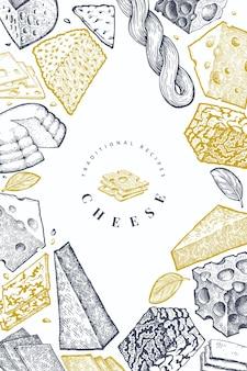 Käse design vorlage.