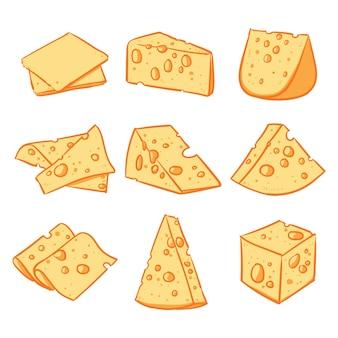 Käse getrennt auf einem weißen hintergrund