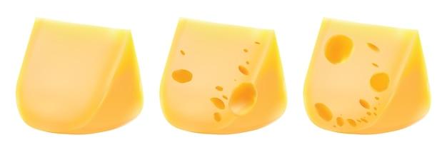 Käse getrennt auf weißem hintergrund