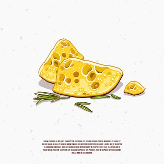 Käse illustration premium