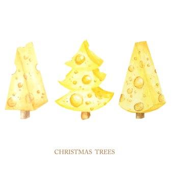 Käse in weihnachtsbaumform