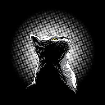 Kätzchen im lichtillustrationsvektor