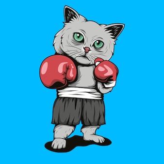 Kätzchen kämpfen illustrationt