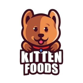 Kätzchen lebensmittel maskottchen gaming logo