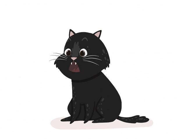 Kätzchen zeigt eine emotion überrascht