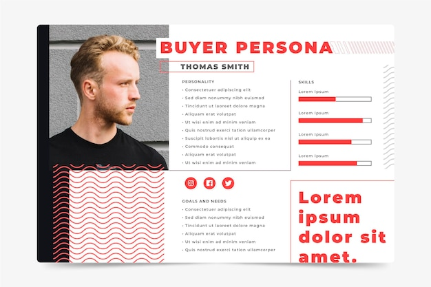 Käufer persona infografiken konzept