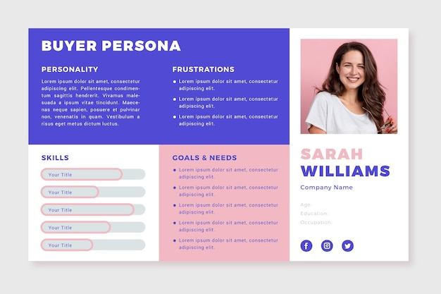 Käufer persona infografiken mit foto