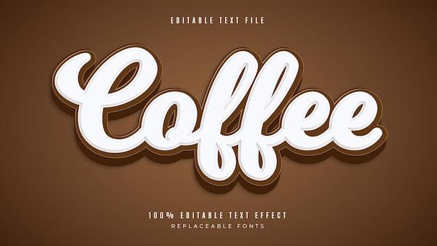 Kaffee 3d bearbeitbarer texteffekt
