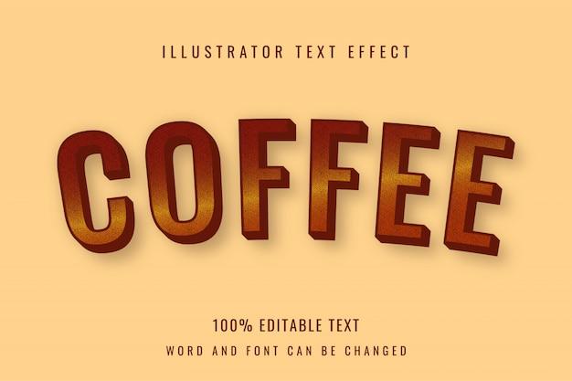 Kaffee - bearbeitbarer texteffekt