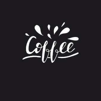 Kaffee beschriften. vektor-illustration.