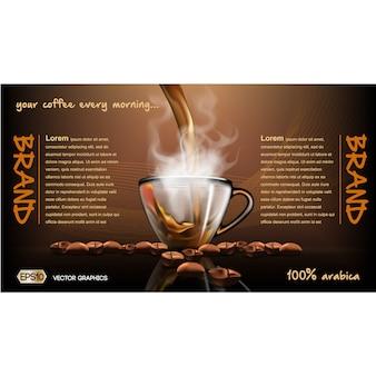 Kaffee-broschüre vorlage