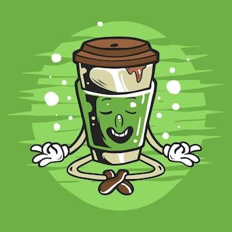 Kaffee-charakter macht yoga