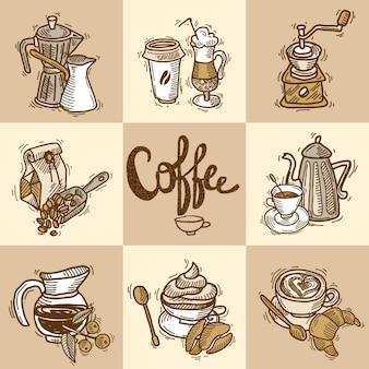 Kaffee deko-set