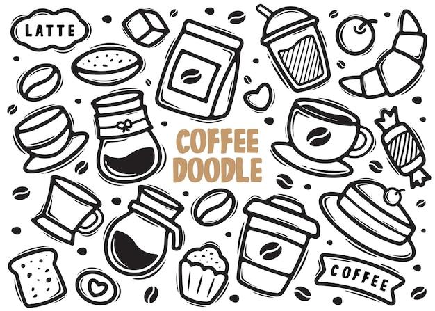 Kaffee element gekritzel