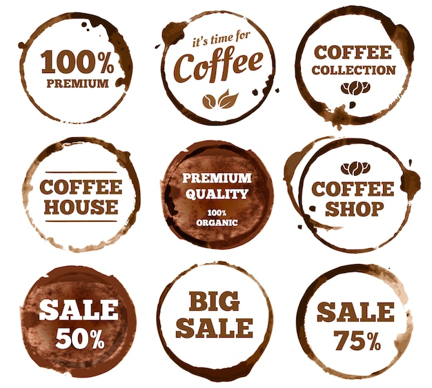 Kaffee-etiketten