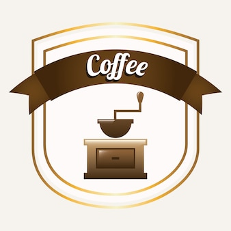 Kaffee grafikdesign vektor-illustration