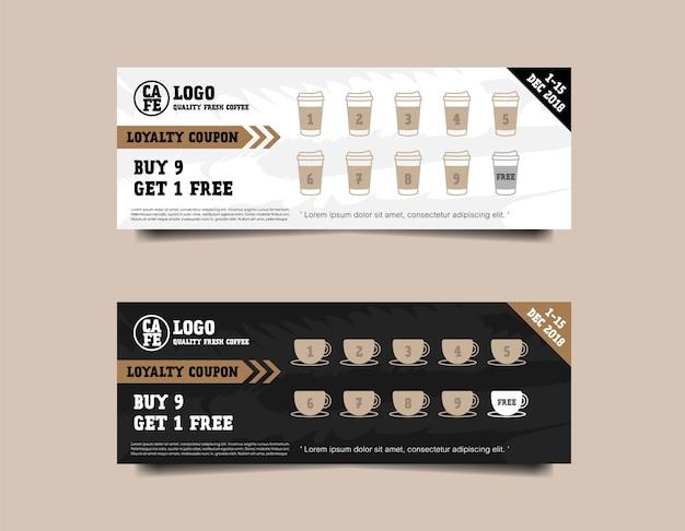 Kaffee gutschein treuekarte