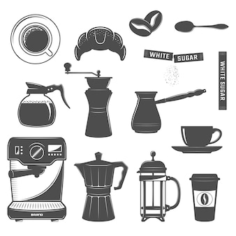 Kaffee-icon-set