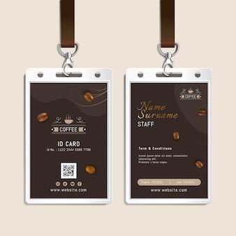 Kaffee id-kartenvorlage