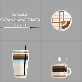 Kaffee-ikonenabbildung eingestellt