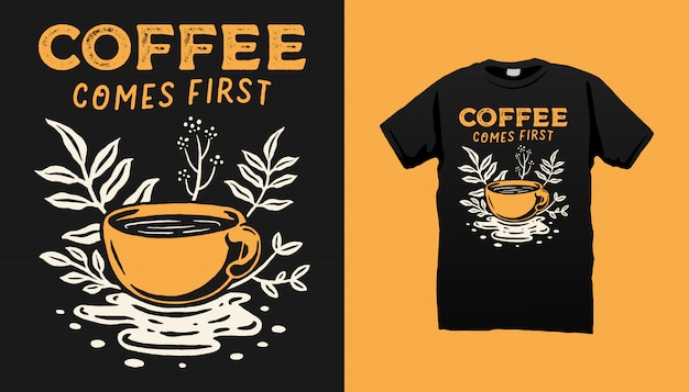 Kaffee illustration t-shirt