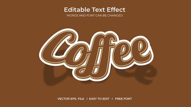 Kaffee illustrator bearbeitbarer texteffekt-vorlagendesign