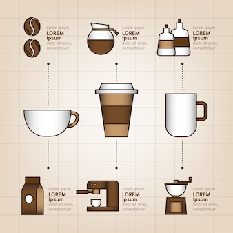 Kaffee-infografik-set. illustration.