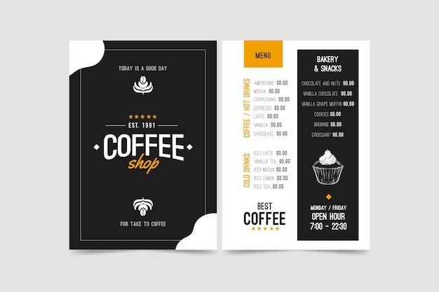 Kaffee-konzept-menüvorlage