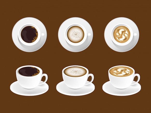 Kaffee kunst latte design.