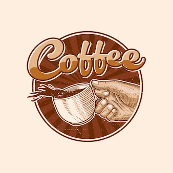 Kaffee-logo-illustration
