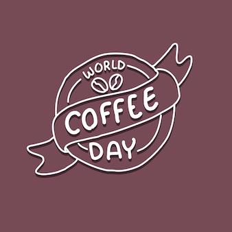 Kaffee-logo-karikaturillustration