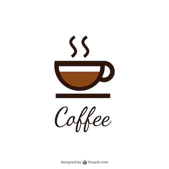 Kaffee-logo mit tasse