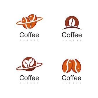 Kaffee-logo-set