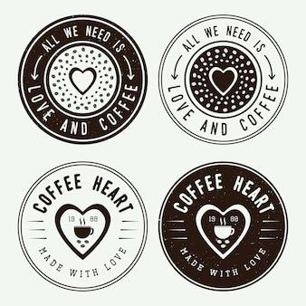 Kaffee logos, etiketten