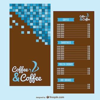Kaffee-menü-vorlage