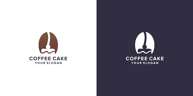 Kaffee mit kuchenlogo