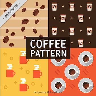 Kaffee-muster in flaches design