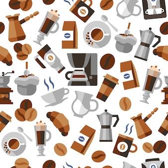 Kaffee nahtlose muster