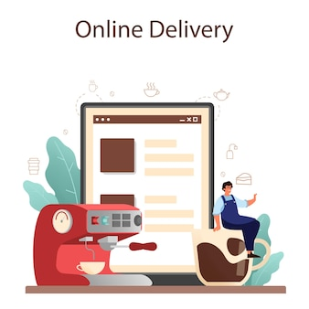 Kaffee online-service oder plattform