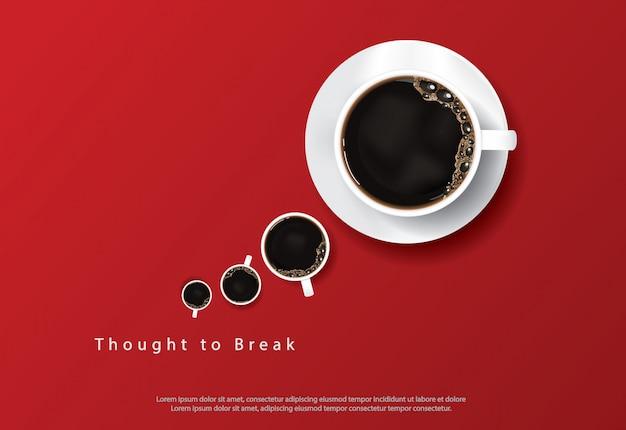 Kaffee-plakat-anzeige flayers-illustration