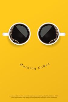 Kaffee-plakat-anzeigen-flayers-illustration